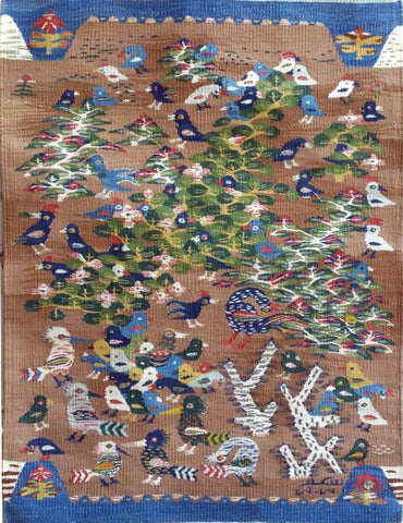 "Saiid Chaaban Hassanein, ""Hoopoes and Chickens"", 2017, Cotton"