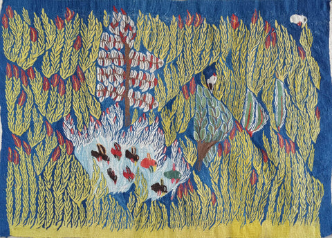 "x.Child3, Saeeda Mohamed, ""Wheat Fields"", 1980 Wool"