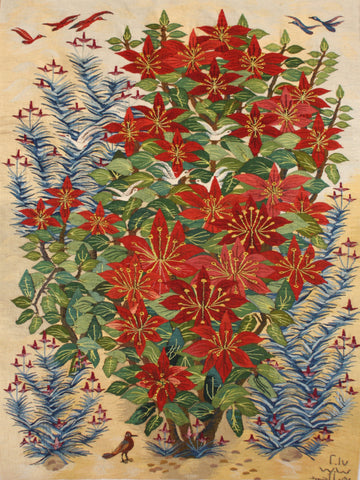 "WDG.4, Reda Ahmed, ""Poinsettia"", 2017, Wool"