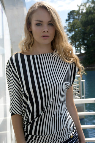 Pennant Striped Blouse