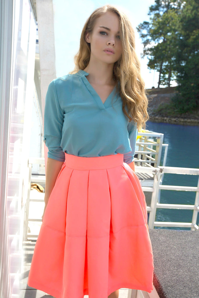 Parasail Pleated Skirt - Shop Clothes For Women and Kids | Ennyluap