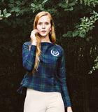 Women's Equestrian Plaid Lace-Up Top - Shop Clothes For Women and Kids | Ennyluap