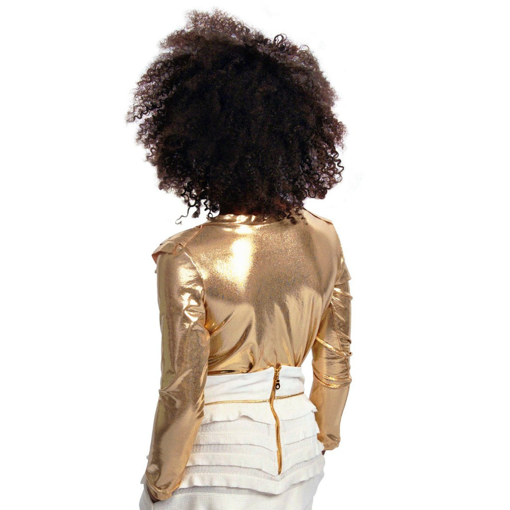 Gold Ruffle Top | Girls - Shop Clothes For Women and Kids | Ennyluap