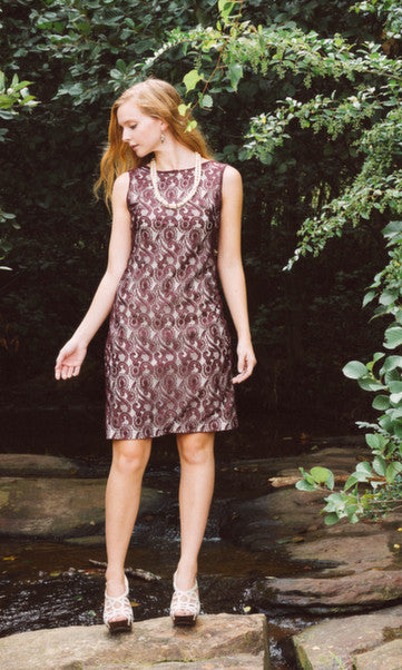 Women's Burgundy Lace Low Back Dress - Shop Clothes For Women and Kids | Ennyluap