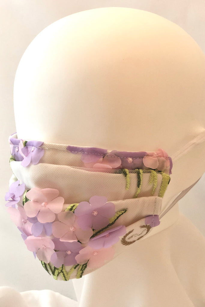 Floral Face Mask with Nose Wire