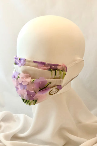 Children's Size Floral Face Mask with Nose Wire