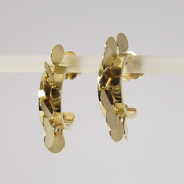 Icon Precious hoop stud Earrings, 18ct yellow gold polished by Fiona DeMarco