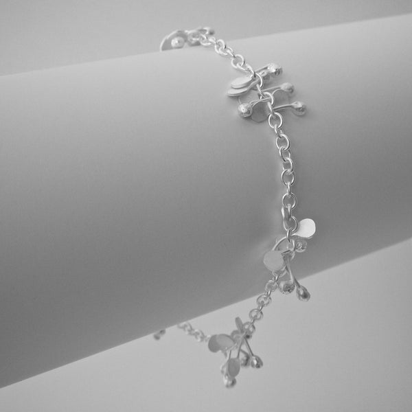 Accent Bracelet, satin silver by Fiona DeMarco