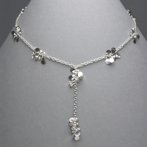 Accent lariat Necklace, polished silver by Fiona DeMarco