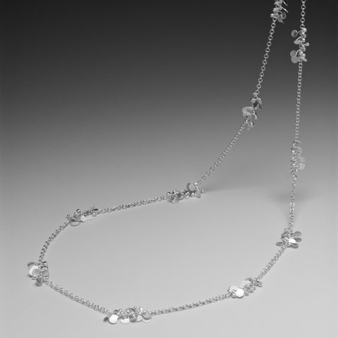 Accent long Necklace, satin silver by Fiona DeMarco
