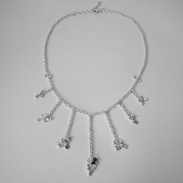 Accent semi graduated Necklace, polished silver by Fiona DeMarco