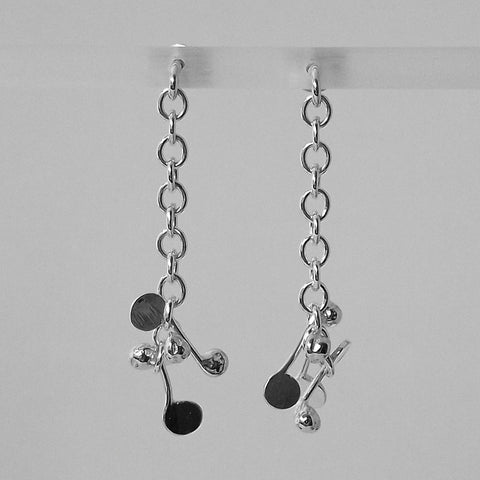 Accent stud Earrings, polished silver by Fiona DeMarco