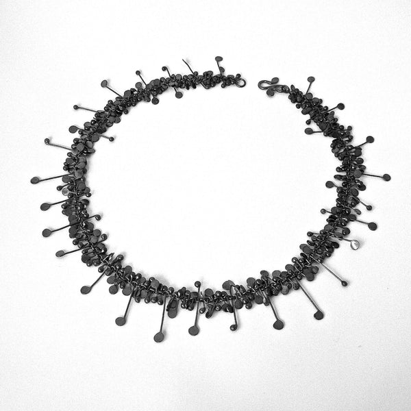 Blossom Necklace, oxidised silver by Fiona DeMarco