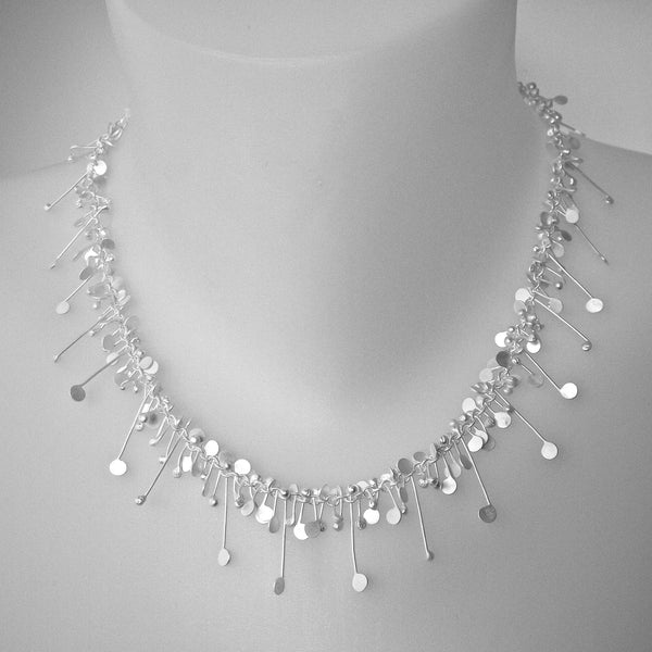 Blossom Necklace, satin silver by Fiona DeMarco