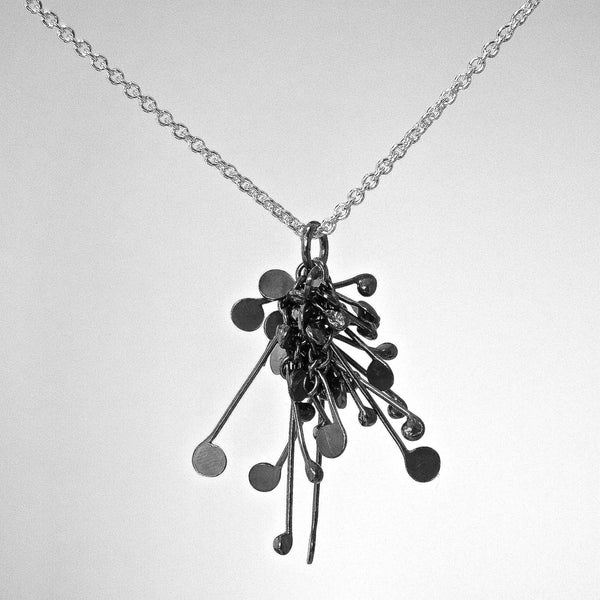 Blossom Pendant, oxidised silver by Fiona DeMarco