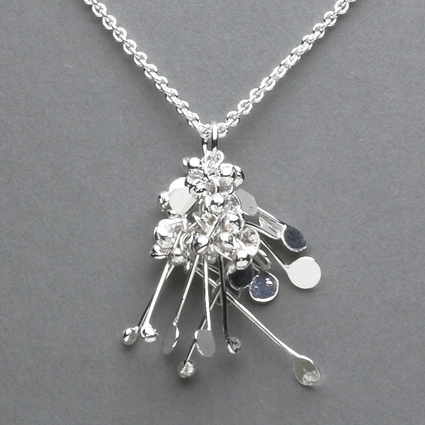 Blossom Pendant, polished silver by Fiona DeMarco