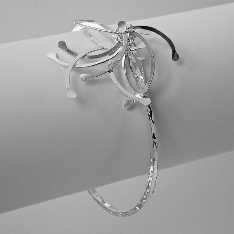 Contour Cluster Bangle, polished silver by Fiona DeMarco