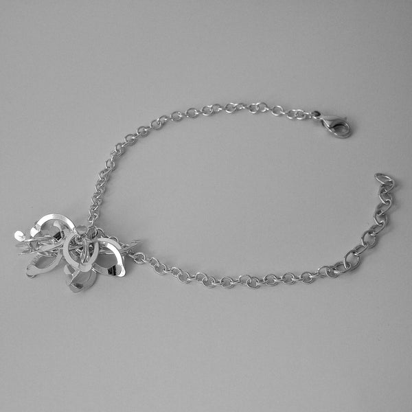Contour Cluster Bracelet, polished silver by Fiona DeMarco