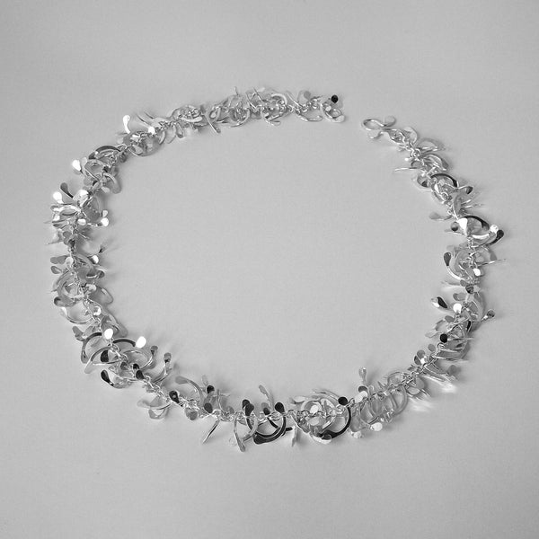 Contour Necklace, polished silver by Fiona DeMarco