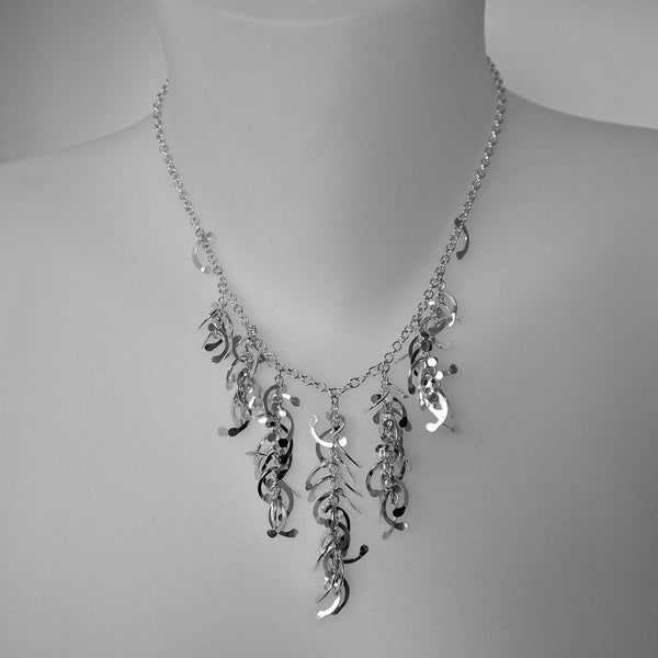 Contour semi graduated Necklace, polished silver by Fiona DeMarco