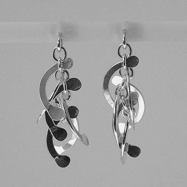 Contour stud Earrings, polished silver by Fiona DeMarco