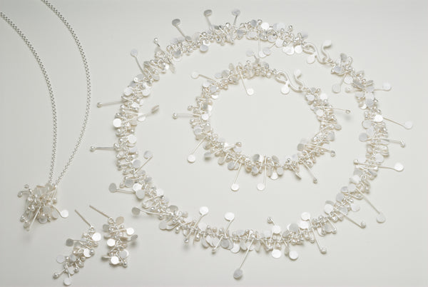 Blossom collection, satin silver by Fiona DeMarco