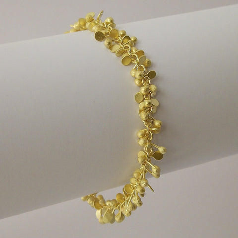 Harmony Precious Bracelet, 18ct yellow gold satin by Fiona DeMarco