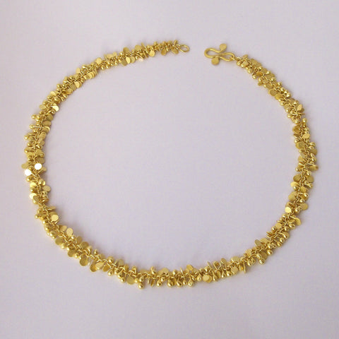 Harmony Precious Necklace, 18ct yellow gold satin by Fiona DeMarco