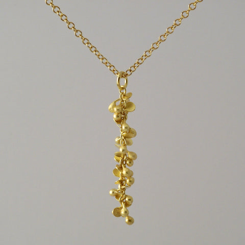 Harmony Precious Pendant, 18ct yellow gold satin by Fiona DeMarco