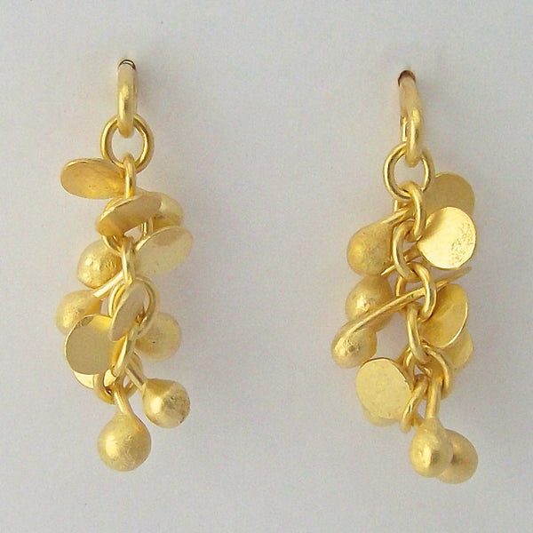Harmony Precious stud earrings 18ct yellow gold by Fiona DeMarco