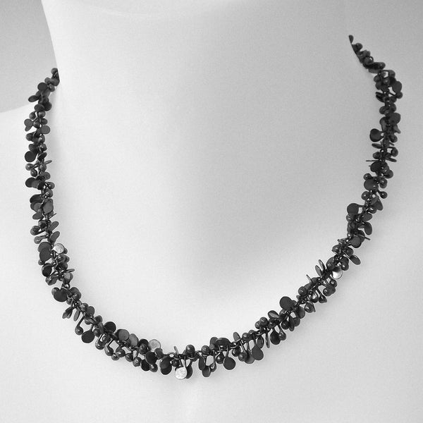 Harmony Necklace, oxidised silver by Fiona DeMarco