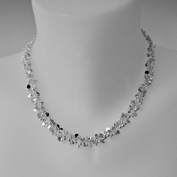 Harmony Necklace, polished silver by Fiona DeMarco