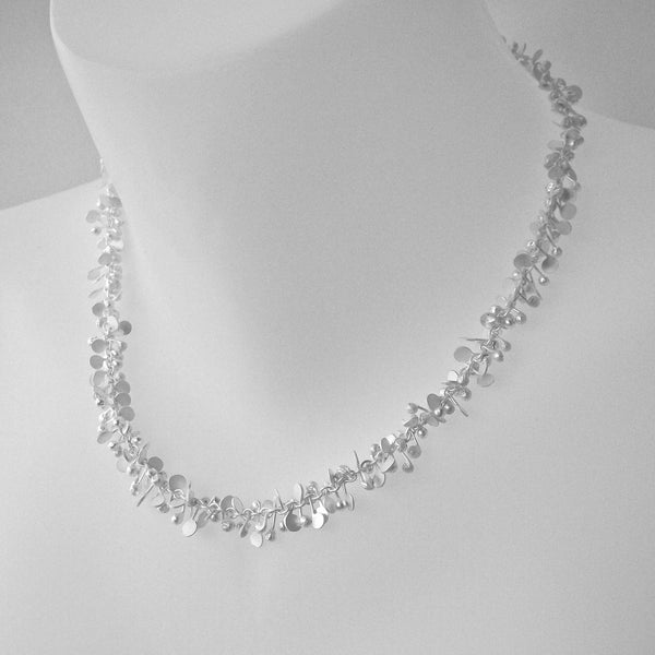Harmony Necklace, satin silver by Fiona DeMarco