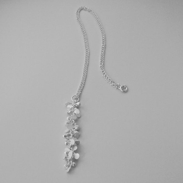 Harmony Pendant, satin silver by Fiona DeMarco