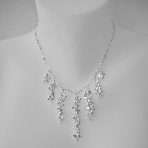Harmony semi graduated Necklace, satin silver by Fiona DeMarco