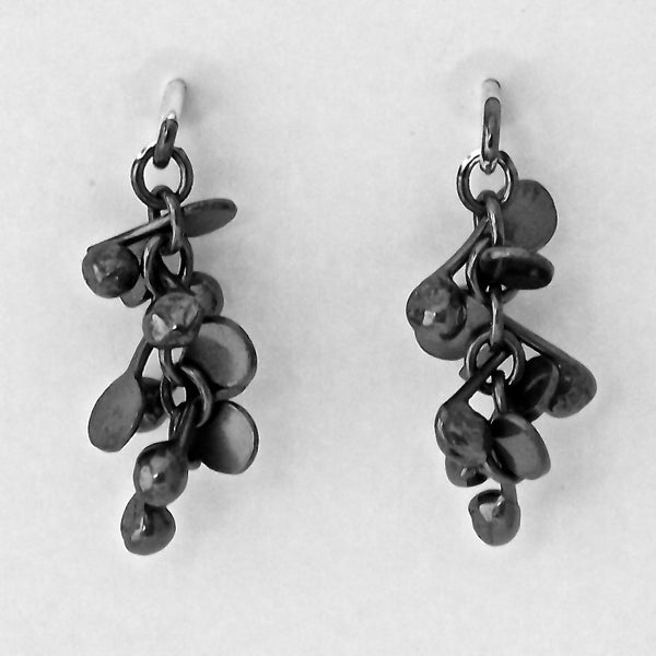 Harmony stud Earrings, oxidised silver by Fiona DeMarco