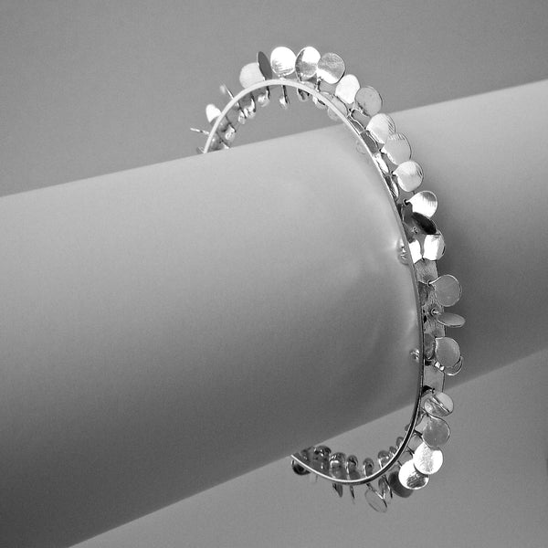 Icon Bangle, polished silver by Fiona DeMarco