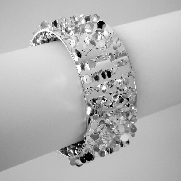 Icon Cuff, polished silver by Fiona DeMarco