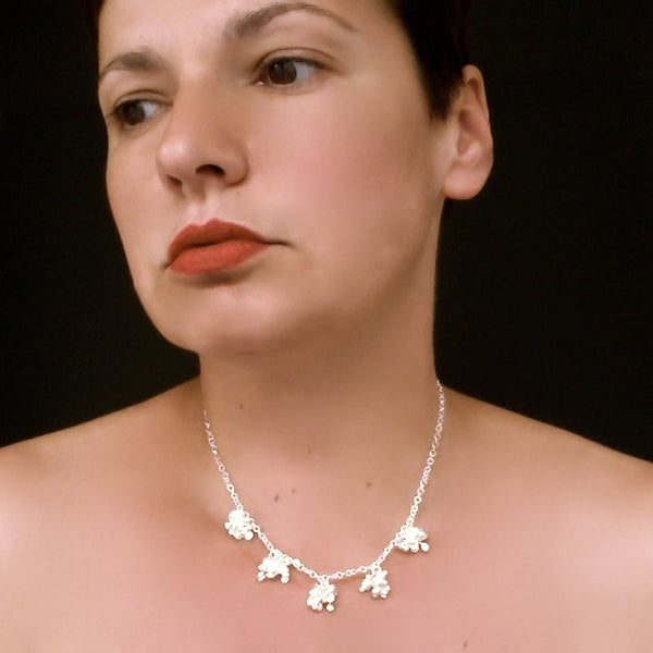 Radiance Necklace, satin silver by Fiona DeMarco