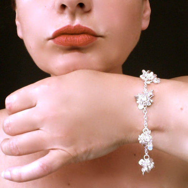 Radiance multi Bracelet, polished silver by Fiona DeMarco
