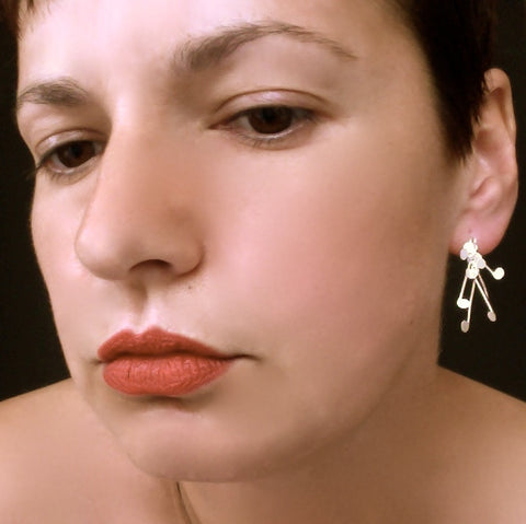 Signature stud Earrings, satin silver by Fiona DeMarco