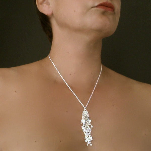 Accent Pendant, satin silver by Fiona DeMarco