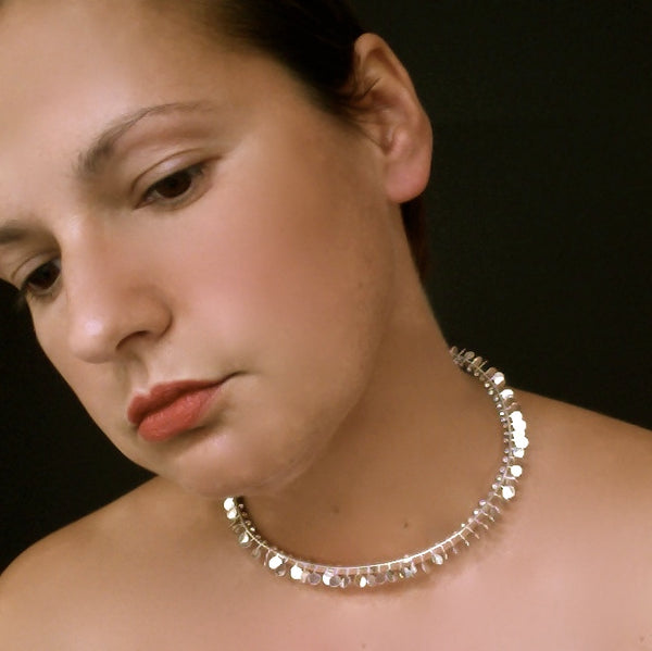 Icon Choker, polished silver by Fiona DeMarco