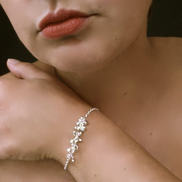 Harmony semi Bracelet, polished silver by Fiona DeMarco