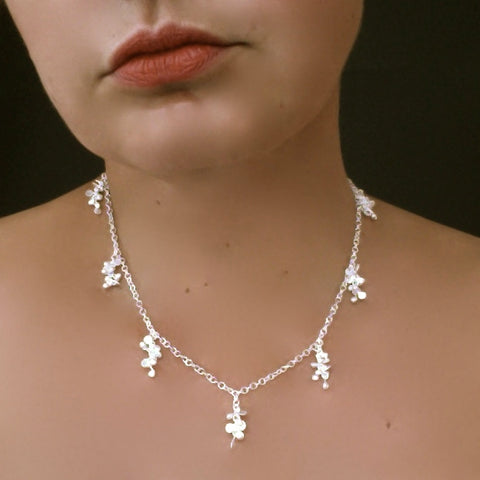 Harmony charm Necklace, satin silver by Fiona DeMarco