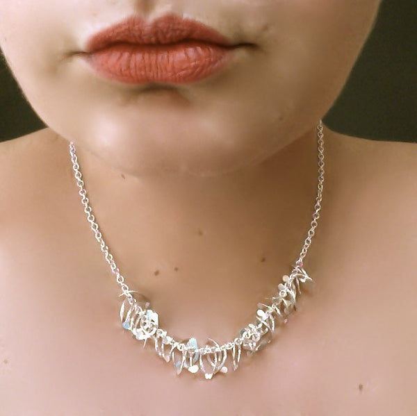 Contour semi Necklace, polished silver by Fiona DeMarco