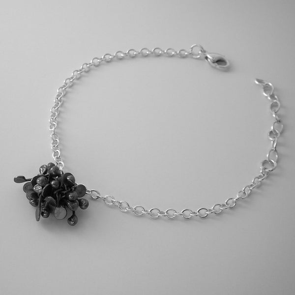 Radiance Bracelet, oxidised silver by Fiona DeMarco