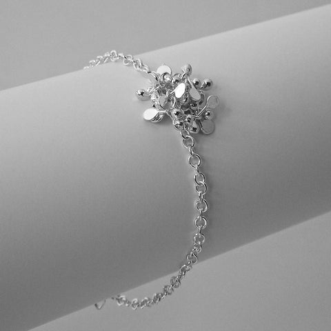 Radiance Bracelet, polished silver by Fiona DeMarco