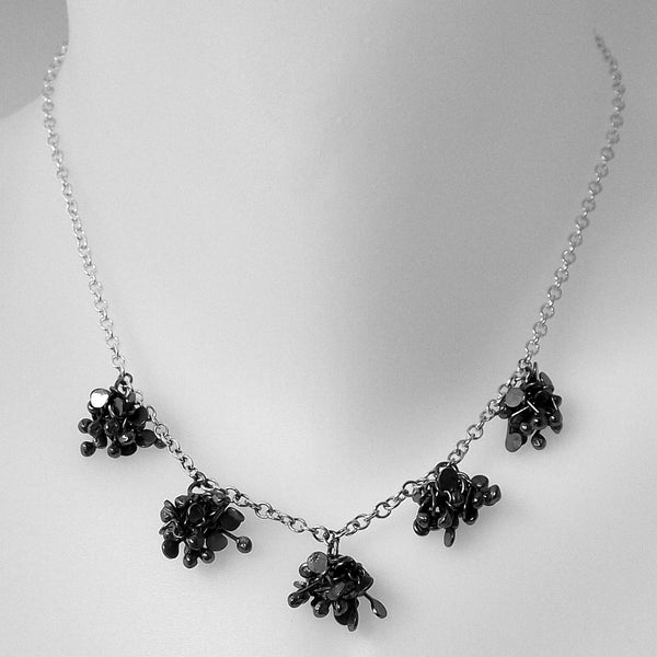 Radiance Necklace, oxidised silver by Fiona DeMarco
