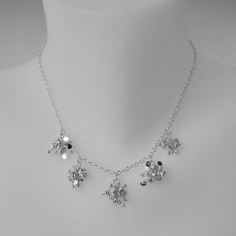 Radiance Necklace, polished silver by Fiona DeMarco